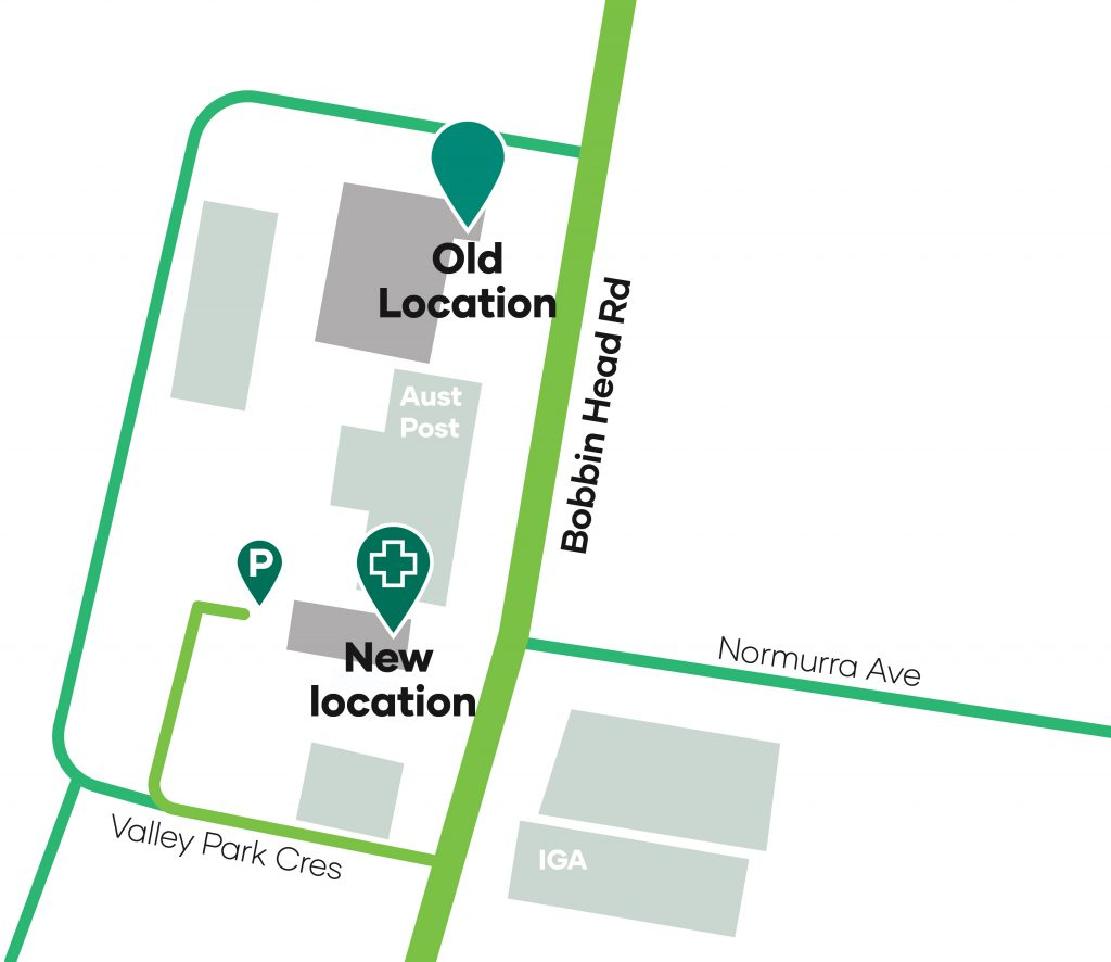 Map of new clinic location
