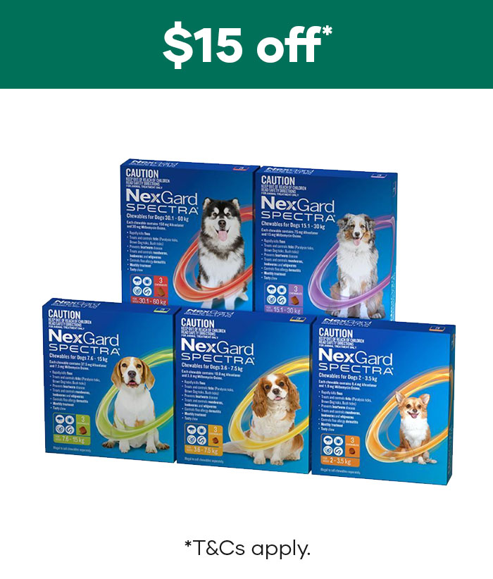 $15 off NexGard Spectra