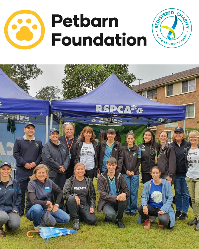 A group of vets volunteering at a RSPCA event